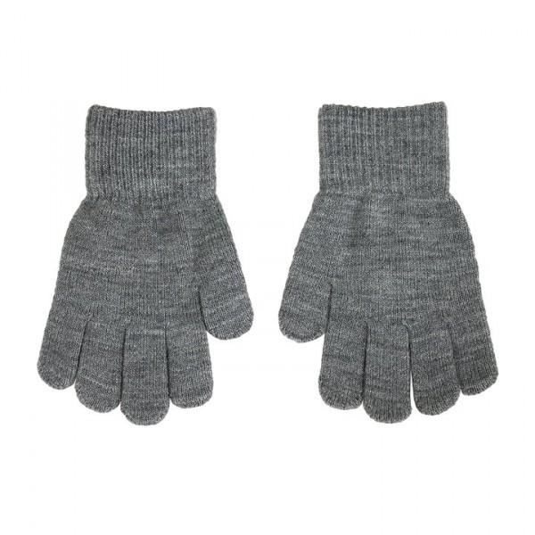 Villervalla gestrickter Fingerhandschuhe grey melange