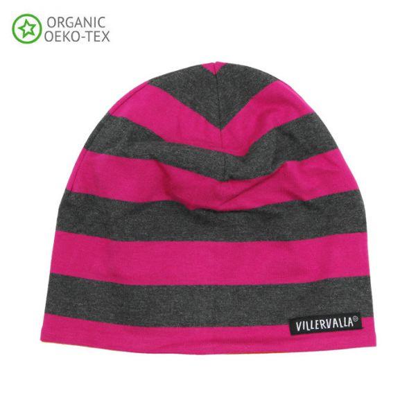 Villervalla Soft tricot hat cranberry/carrot