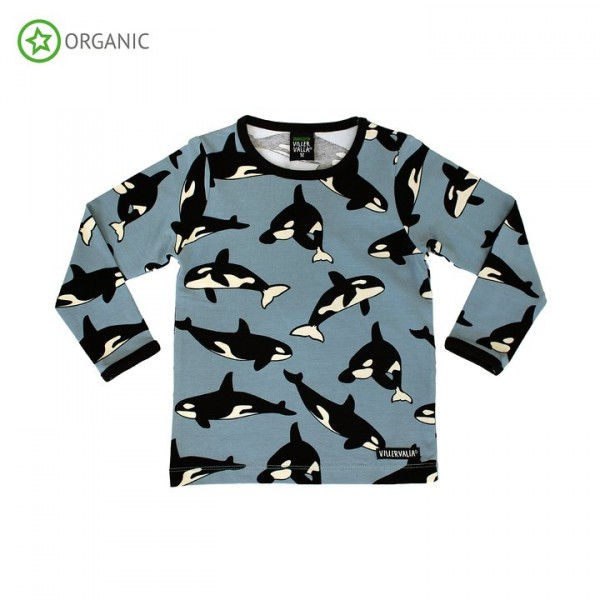 Villervalla langärmliges T-shirt whale