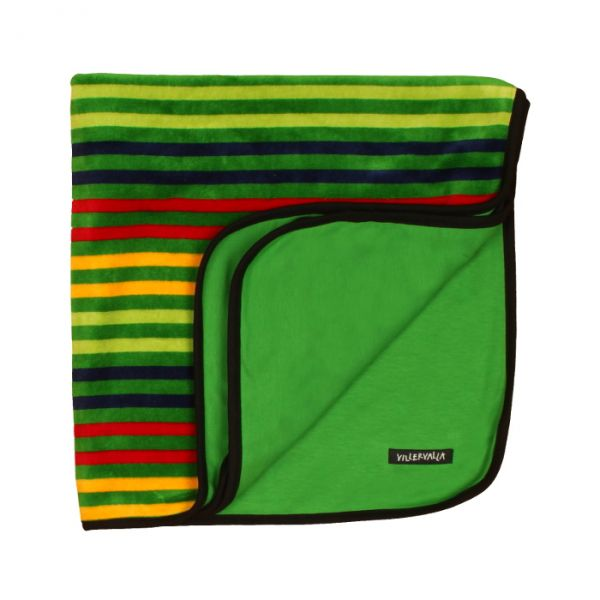 VILLERVALLA reversible blanket DRK APPLE STRIPE - one size