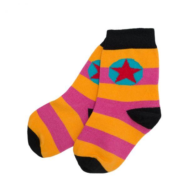 Villervalla Socks rasberry/mandarin