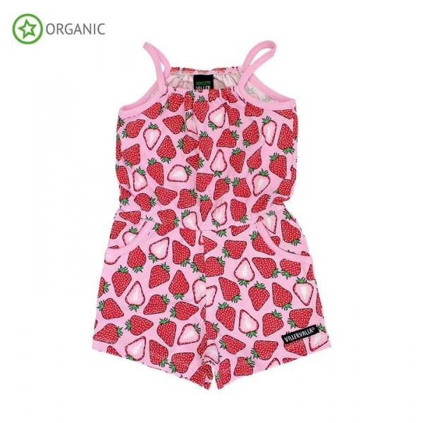Villervalla Jumpsuit strawberry mit Trägern