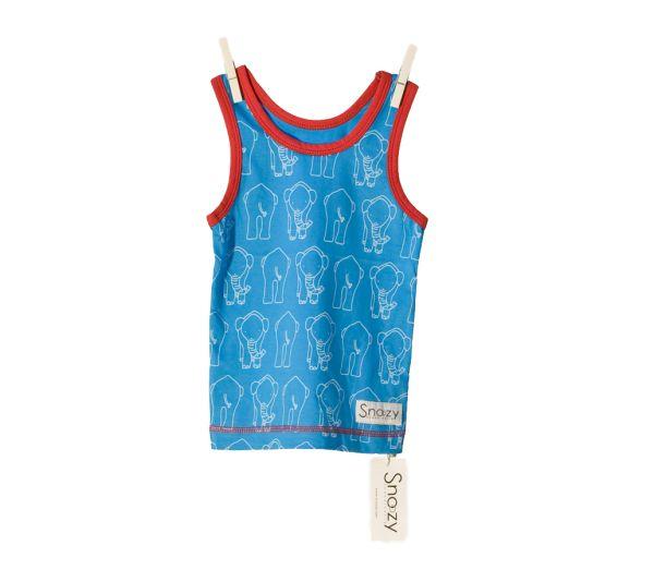 Snoozy Tank Top - Blue Elephant