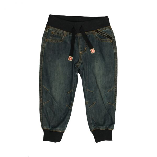 VILLERVALLA pants with cuff INDIGO