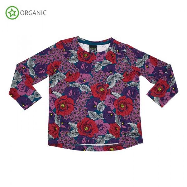 Villervalla langärmliges T-shirt flower