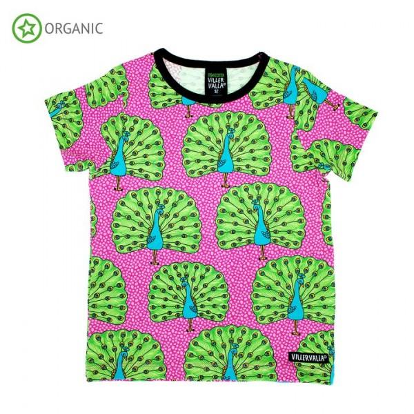 Villervalla kurzärmliges T-shirt peacock