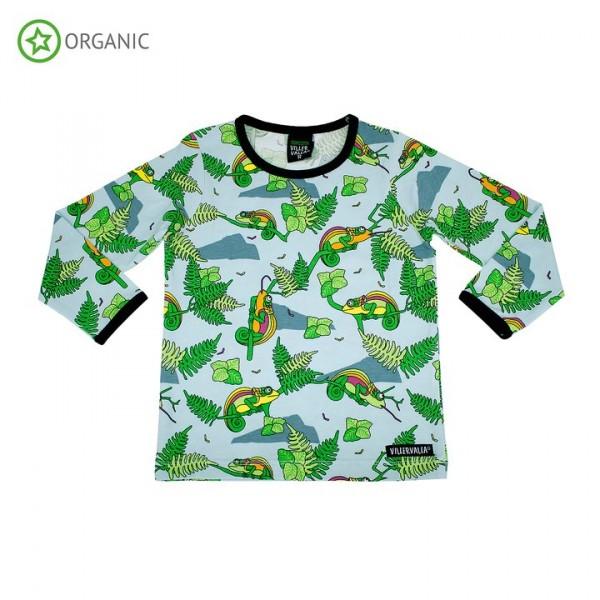 Villervalla langärmliges T-shirt Chameleon