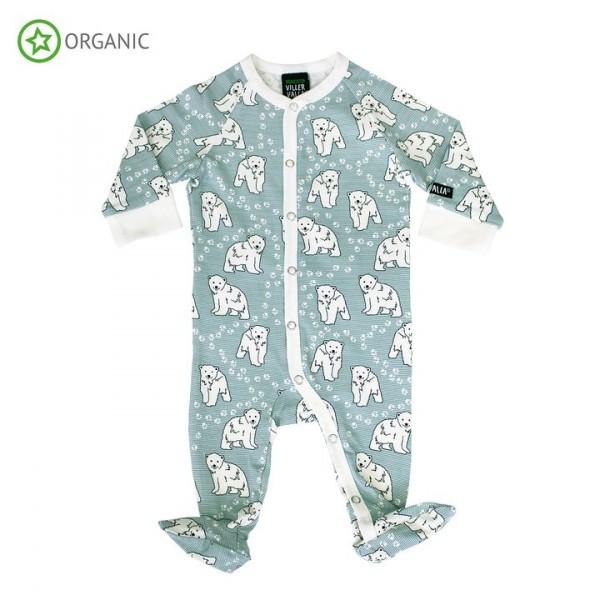 Villervalla Schlafanzug mit Füssen cement polar bear