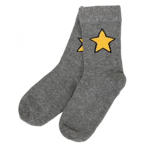 Villervalla Socken grey melange