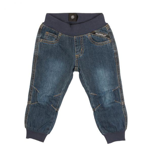Villervalla Lined pants in soft denim with cuff (gefüttert)