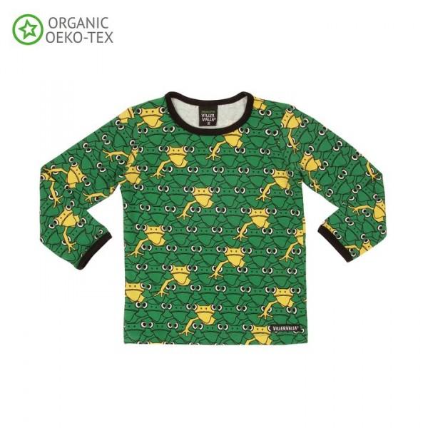 Villervalla langärmliges T-shirt frog