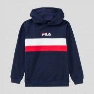 Fila Hoody Ellanah blau/weiß/rot mit Logo