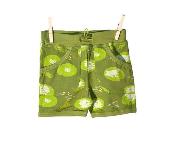 Snoozy Shorts - Green Frog