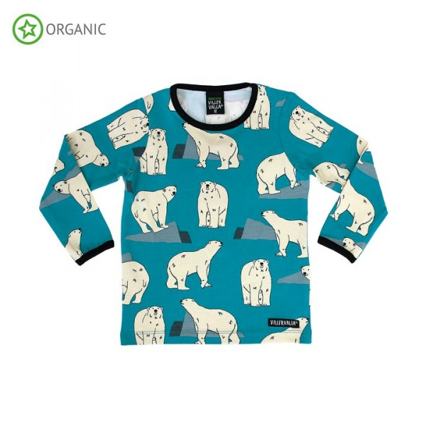 Villervalla langärmliges T-shirt polar bear