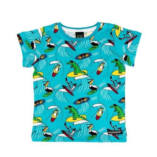 Villervalla Kurzarm Tshirt Surfing Animals reef