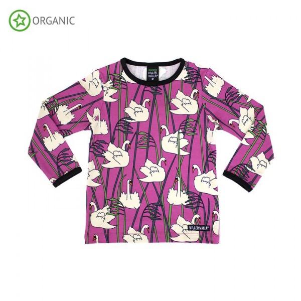 Villervalla langärmliges T-shirt swan