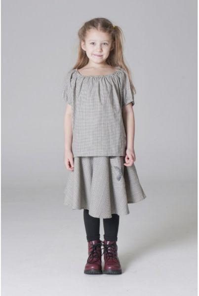 Shampoodle Cross Skirt - Schwarz und Weiss - Größe: 90