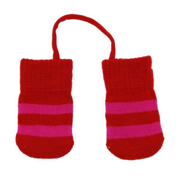 Villervalla Baby glove 0-1 years drk paprika/cranberry