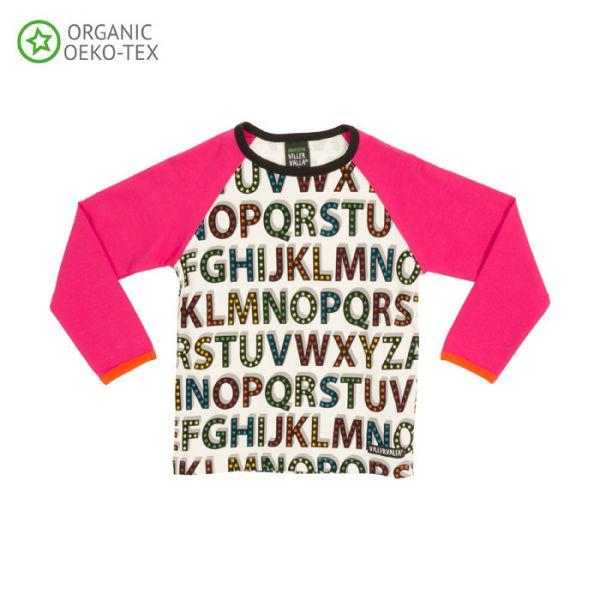 Villervalla Soft long sleeved tricot t-shirt cranberry