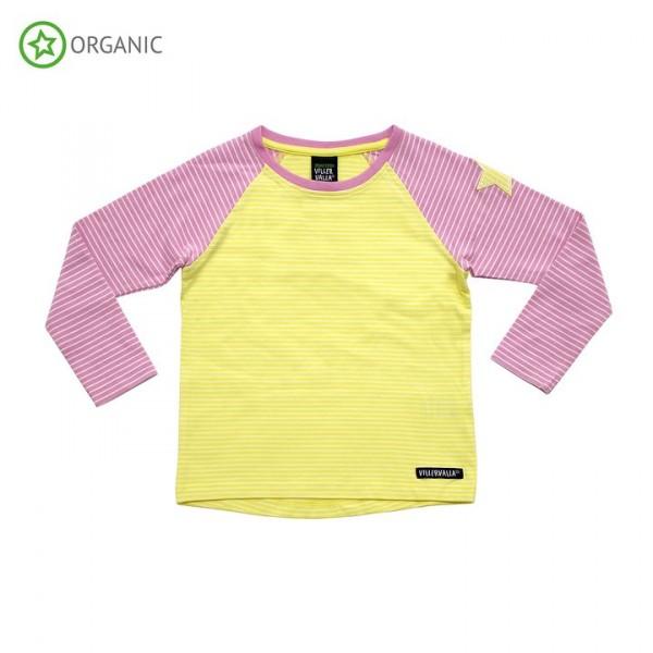 Villervalla langärmliges T-shirt lemonade/azalea