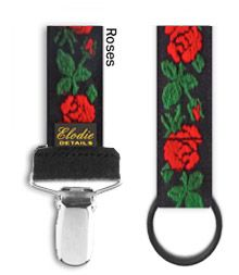 Pacifier clip - Roses