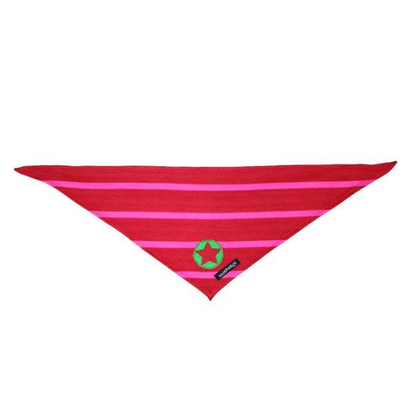 VILLERVALLA scarf STRIPES DRK TOMATO/DRK RASPBERRY