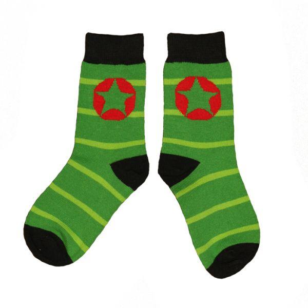 VILLERVALLA socks STRIPES DRK APPLE/CACTUS