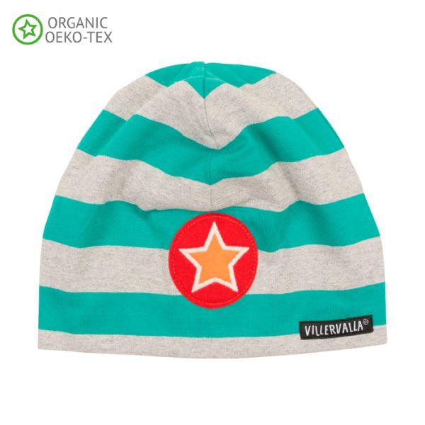 Villervalla Soft tricot hat turquoise